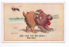 Animal CHIEN Chiens DOG dogs 3 abeille pique chien carte illustrateur Mc GILL