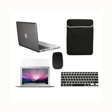 """5in1 Crystal GREY Case for Macbook PRO 13""""+Keyboard Cover+LCD Screen+ Bag +Mouse"""