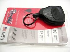 "Key-Bak Black 48"" Cord Super 48 Retractable Key Ring Key Chain Reel S48K"