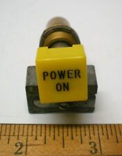1 Mil Sealed Illum. Pushbutton Switch POWER ON Yellow, CLARE/PENDAR # 97564, USA