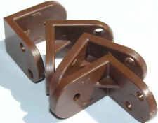 10 pk of Brown Plastic Corner Angle Brace for Furniture construction/repair D019