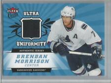 2006-07 Fleer #U-BM, Ultra Uniformity Brendan Morrison Game Used Hockey Card