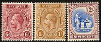 St Vincent 1921 part set multi-script mint SG137/138/139 (3)