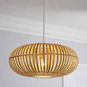 New Gorgeous Stunning Abrielle Bamboo Easy Fit Pendant Modern Home Decor M-21