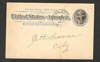 UNITED STATATES-USA-TRAVELED POSTCARD-STATIONERY-1898.