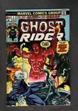 Ghost Rider #2 MARVEL 1973 1st Son of Satan Jim Mooney GD