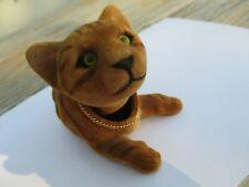 Vintage ? Flocked Tiger Nodder Bobble Head Figurine