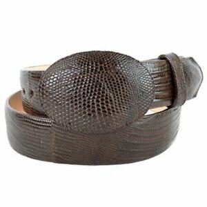 Men's Los Altos Genuine Teju Lizard Western Cowboy Belt Handmade