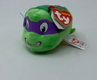 Teeny Tys Stackable Plush Donatello, Raphael+ TMNT -SET OF 4 TY Beanie Boos