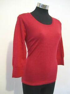 NEW! Cerise Pink 100% Wool Jumper Knit Size 10 S