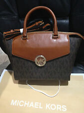 Michael Kors MK Signature Authentic Women's Large Satchel handbag purse $398+new