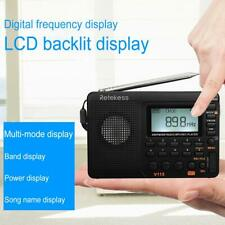 V115 Portable Radio AM/FM/SW MP3 Player REC Recorder Rechargeable Broadcast Gift