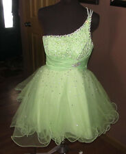Mari Lee Madeline Gardner Womens Formal Prom Dress Lime Green Sequins Size 9 10