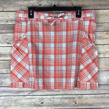 Horny Toad Womens Dizzy Mini Skirt 100% Organic Cotton Pockets Plaid Size Xs
