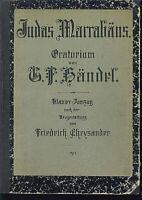 """Georg Friedrich Händel :"""" Judas Maccabäus """" Oratorium Klavierauszug m. Text 1913"""