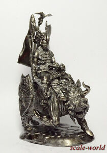 Tin soldier, figure. Warrior on the boar 54 mm