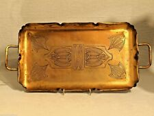 WMF Jugendstil-Tablett aus Kupfer Straußenmarke ART NOUVEAU Copper Tray Bandeja