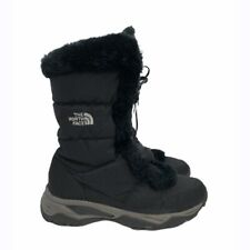 The North Face Black & Gray Lace Up Winter Snow Boots Size 7