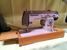 Pinnock sewing machine zig zag 01234 in carrying case with power lead/ treadle