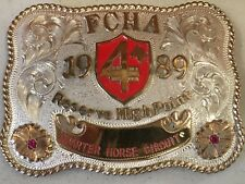 CUSTOM TROPHY BUCKLE HORSE 1989