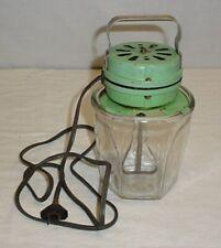 Vintage Electric Green Kitchen Mixer Blender Chicago Electric Mfg 2 Cup Jar
