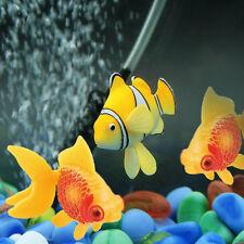 1pc Aquarium Fish Tank Plastic Artificial Swimming Fake Fish Ornament Deco~