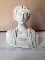 Riproduzione statua TERRACOTTA 19 cm ST46 scultura greco romano antica LEKYTHOS
