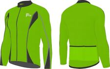 Mens Cycling Jersey Bicycle Long Sleeves Thermal Winter Biking Jacket Hi Viz Top