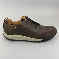 Clarks Ashcombe Bay Gortex Brown Leather Lace Up Casual Waterproof Shoes UK11 G