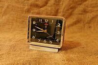 Vintage Alarm Clock Made In China Diamond Wind-Up Alarm Clock Red and Black #87