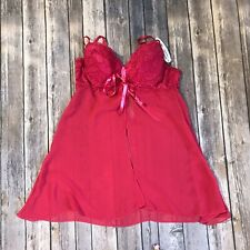 Native intimates medium red Babydoll nightie 534