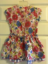 Cakewalk Cake Walk Girls Floral Short Sleeve Dress Size 4
