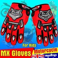 Kids Youth Gloves Motorbike Motocross MX ATV Quad Dirt Trail Pit Bike skating
