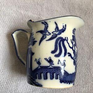 Doulton Burslem willow pattern milk jug   Royal Doulton 1891 - 1902