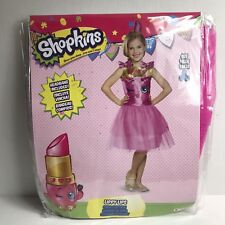 Disguise Shopkins Lippy Lips Costume Med 7-8 Dress & Headpiece Halloween Play
