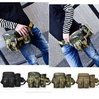 Nylon Tactical Military Travel Hiking Water Bottle Belt Fanny Pack Waist Bag Hot