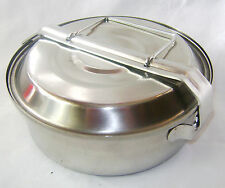 NEW COMPACT SAUCEPAN WITH TWO PLATES FOLDING HANDLE CAMPING, CARRY CURRIES ETC