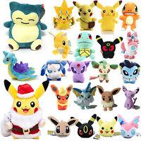 Pokemon Pikachu Plush Toys Soft Stuffed Animal Eevee Snorlax Bulbasaur Squirtle