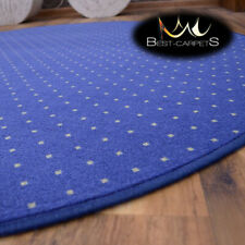 MODERN & CHEAP& QUALITY CARPETS Round Feltback AKTUA blue Bedroom RUG ANY SIZE