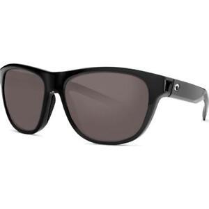 New Costa Del Mar Bayside Polarized Sunglasses 580P Black/Gray Men/Women