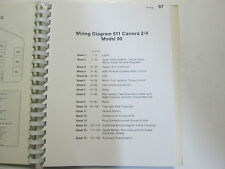 Porsche 911 Carrera Model 90 Wiring Diagrams Manual FACTORY OEM Book