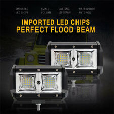 5''18 Led Bar Flood Beam Pods Lights Pair 108W 16000 Lumens Super Bright Offroad