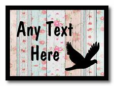 Pigeon Dove Shabby Wood Personalised Dinner Table Placemat