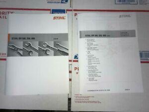 BR 500 550 600 Back Pack Blower Service Workshop Repair & Part Manual