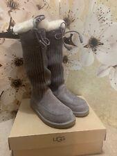 UGG® Australia  Ugg® Suburb Crochet Tall Grey Size UK 6.5 EU 39