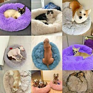 Large Fur Pet Bed Dog Cat Pet Calming Beds Large Mat Comfy Puppy Washable Fluffy