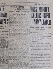 Michael Collins Murdered Shot Down Ambush Irish Free State August 23 1922 B21