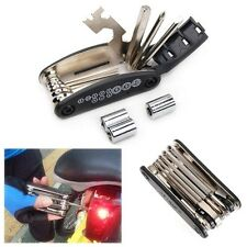 Bicycle Bike Cycling Puncture Multi Function Spanner Wrench Repair Tool Kit BLK