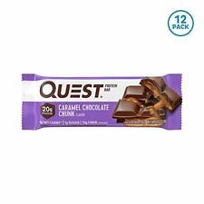 Quest Nutrition Caramel Chocolate Chunk Protein bar High Protein Low Carb Glu...