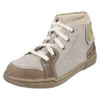 Clarks Boys Boots HARKLIN HI Light Grey Suede Various Sizes